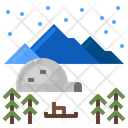 Snow Winter Igloo Icon
