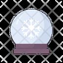 Snowball Snow Globe Crystal Ball Icon