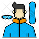 Snowboarding player Icon