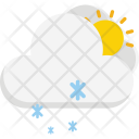 Snow Flakes Clouds Icon