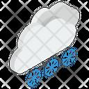 Heavy Snow Snowfall Rainstorm Icon