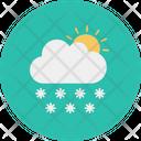Cloud Sun Snowfall Icon