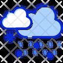 Snowfall Clouds Rain Icon