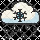 Snowfall Cloud Snowflakes Icon
