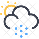 Snowfall Snow Blizzard Scattered Snow Icon