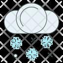 Snow Cloud Snowflake Icon