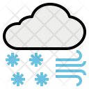 Snowfall Blizzard Avalanche Icon