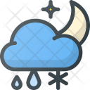 Snowfall in night Icon