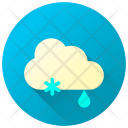 Snowfall Rainfall Mixed Weather Rain Icon