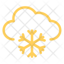 Clouds Snowfalling Snowing Icon