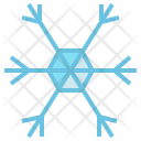 Snowflake Snow Hexagon Icon