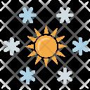 Snow Flakes Sun Icon