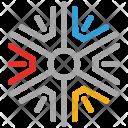 Snowflake Winter Texture Icon