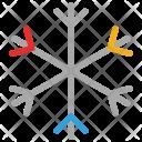 Snowflake Decorative Christmas Icon