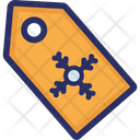 Snowflake Tag Christmas Icon