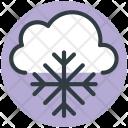 Snowflake Cloud Winter Icon