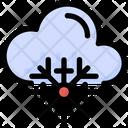 Cloud Snowflake Weather Icon