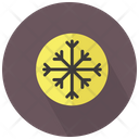 Snowflake Crystal In Circle Icon