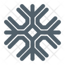 Snowflake New Years Winter Icon