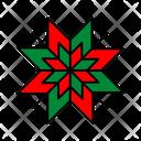 Color Snowflake Christmas Icon