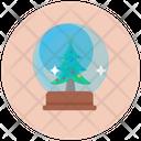 Snowglobe Christmas Globe Decorative Globe Icon