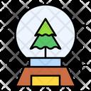 Snowglobe Celebration Christmas Tree Icon