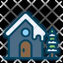 Snowhouse Snowfall Christmas Icon
