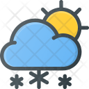 Snowing Day Weather Icon