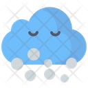 Snowing Snow Cloud Icon