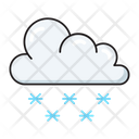 Snowing Snowflake Cloud Icon