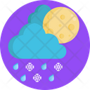 Snowflakes Snow Clouds Icon