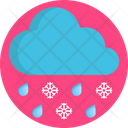 Snowflakes Rain Cloud Icon