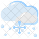 Snowing Cloud Snowflake Icon