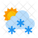 Cloud Forecast Snow Icon