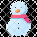 Snowman Scarf Winter Icon