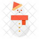 Snowman Character Winter Icon
