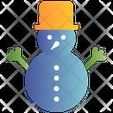 Snowman Winter Christmas Icon