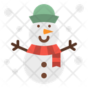 Snowman Winter Snow Icon