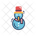 Snowman Snow Frost Icon