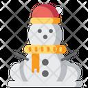 Snowman Christmas Winter Icon