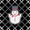 Snowman Decoration Christmas Icon
