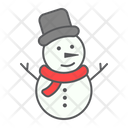 Snowman Merry Christmas Icon