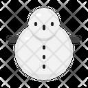 Winter Christmas Snowman Icon