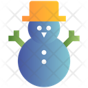 Snowman Winter Easter Icon