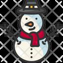 Snowman Winter Snow Icon