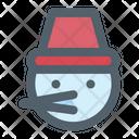 Christmas Cold Snowman Icon