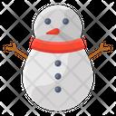 Snowman Snow Sculpture Christmas Man Icon