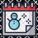 Snowman Date Schedule Icon