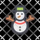 Snowman Cartoon Snowman Granular Snow Icon