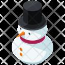 Snowman Isometric Icon